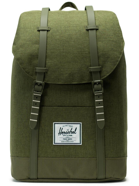 Herschel Retreat Backpack 19,5l Unisex, olive night crosshatch/olive night